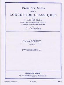 BERIOT CH. 1ER SOLO 7ME CONCERTO EN SOL MAJEUR VIOLON