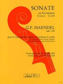 HAENDEL G.F. SONATE EN SOL MINEUR VIOLONCELLES