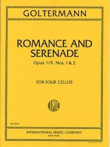 GOLTERMANN G. ROMANCE ET SERENADE OP 119  4 VIOLONCELLES