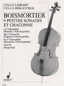 BODIN DE BOISMORTIER J. 9 PETITES SONATES ET CHACONNE 2 VIOLONCELLES OU BASSONS