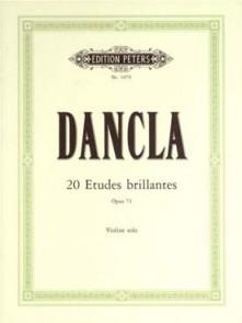 DANCLA C. 20 ETUDES BRILLANTES OPUS 73 VIOLON