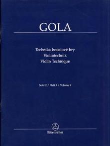 GOLA VIOLIN TECHNIQUE VOL 2 VIOLON