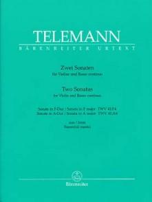 TELEMANN G.P. 2 SONATES FLUTE