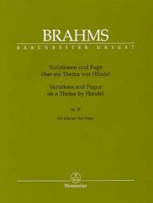 BRAHMS J. VARIATIONS ET FUGUE SUR UN THEME DE HAENDEL OP 24 PIANO