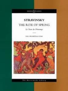 STRAVINSKY I. LE SACRE DU PRINTEMPS CONDUCTEUR