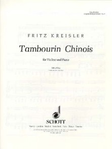 KREISLER F. TAMBOURIN CHINOIS OP 3 VIOLON