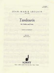 LECLAIR J.M. TAMBOURIN VIOLON