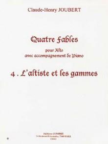 JOUBERT C.H. FABLE N°4:  L'ALTISTE ET LES GAMMES ALTO