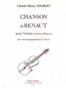 JOUBERT C.H. CHANSON DE RENAUT VIOLON