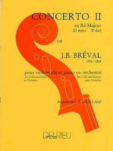 BREVAL J.B. CONCERTO N°2 VIOLONCELLE