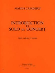 CASADESUS F. INTRODUCTION ET SOLO DE CONCERT VIOLON