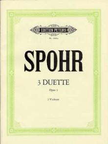 SPOHR L. 3 DUETTE OP 3 VIOLONS