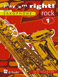 VELDKAMP E. PLAY ' EM RIGHT! ROCK VOL 1 SAXO ALTO/TENOR SOLO