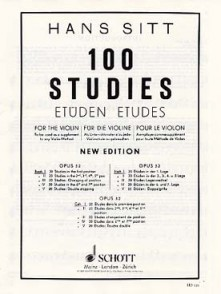 SITT H. 100 STUDIES OPUS 32 VOL 1 VIOLON