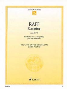 RAFF J. CAVATINE VIOLON OU VIOLONCELLE