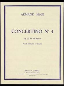 HECK A. CONCERTINO N°4 OPUS 34 VIOLON