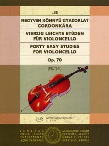 LEE S. FORTY EASY STUDIES OP 70  FOR VIOLONCELLO