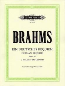 BRAHMS J. GERMAN REQUIEM OP 45 CHANT