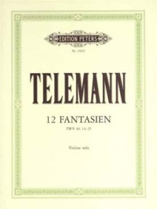 TELEMANN G.P. 12 FANTAISIES VIOLON
