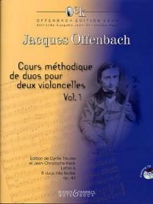 OFFENBACH J. COURS METHODIQUES DE DUOS VOL 1 VIOLONCELLES
