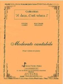 CASIEZ F./SOLDANO J.C. MODERATO CANTABILE VIOLON