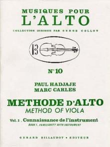 HADJAJE P./CARLES M. METHODE ALTO VOL 1