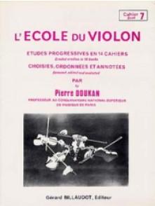 DOUKAN P.  ECOLE DU VIOLON ETUDES PROGRESSIVES VOL 7