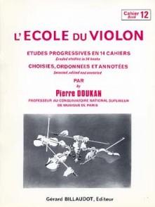 DOUKAN P. ECOLE DU VIOLON ETUDES PROGRESSIVES VOL 12