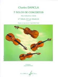 DANCLA C. 6ME SOLO DE CONCERTO OP 95 N°6 VIOLON