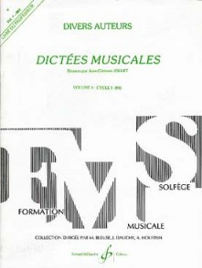 JOLLET J.C. DICTEES MUSICALES VOL 1 PROF