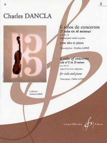 DANCLA C. SOLOS DE CONCERTO: OP 141 N°2 EN RE MINEUR ALTO