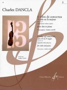 DANCLA C. SOLOS DE CONCERTO: OP 141 N°3 EN FA MAJEUR ALTO
