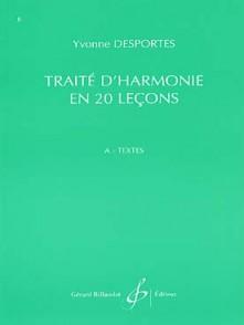 DESPORTES Y. TRAITE D'HARMONIE EN 20 LECONS  LIVRE A