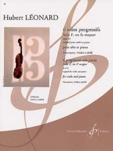 LEONARD H. SOLOS PROGRESSIFS OP 62: SOLO F EN FA MAJEUR ALTO