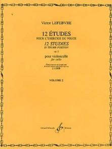 LEFEBVRE V. ETUDES POUR LE POUCE OP 2 VOL 2 VIOLONCELLE