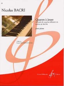 BACRI N. QUARTES A JOUER PIANO
