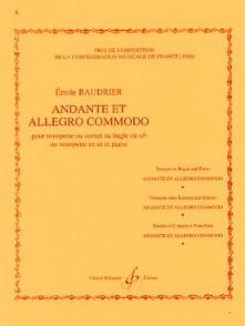 BAUDRIER E. ANDANTE ALLEGRO COMMODO TROMPETTE