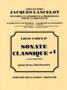 CAHUZAC L. SONATE CLASSIQUE N°1 CLARINETTES