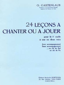 GARTENLAUB O. 24 LECONS A CHANTER OU A JOUER 1ER CYCLE