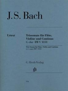 BACH J.S. TRIOSONATE G DUR BWV 1038  FLUTE, VIOLON, CONTINUO