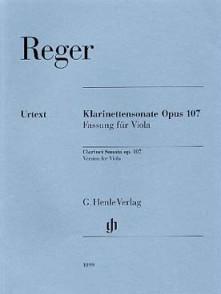 REGER M. CLARINETTE SONATE OP 107 ALTO