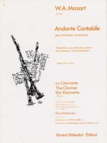MOZART W.A. ANDANTE CANTABILE CLARINETTE SIB