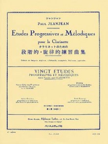 JEANJEAN P. ETUDES PROGRESSIVES ET MELODIQUES VOL 1 CLARINETTE