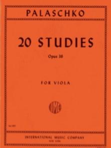 PALASCHKO J. 20 ETUDES OP 36 ALTO