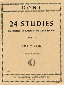 DONT J. PRELIMINARY STUDIES OPUS 37 VIOLON