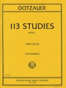DOTZAUER 113 STUDIES BOOK 1 VIOLONCELLE
