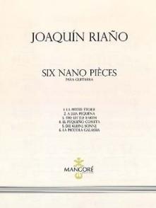 RIANO J. SIX NANO PIECES GUITARE