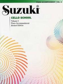 SUZUKI CELLO SCHOOL VOL 3 ACCOMPAGNEMENT PIANO