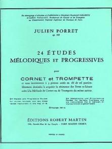 PORRET J. ETUDES MELODIQUES ET PROGRESSIVES  TROMPETTE OU COR
