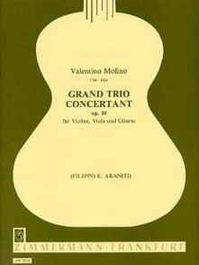 MOLINO V. GRAND TRIO CONCERTANT OP 10 VIOLOON ALTO GUITARRE